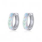 Cercei din argint Opal Hoops