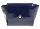 Blue Patent Leather Clutch Bag