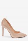Pantofi stiletto cu aspect metalizat