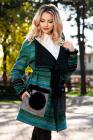 Cardigan Venezia din lana verde cu aplicatii din blanita