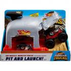 Pista de masini by Mattel Monster Truck Bone Shaker cu 2 masinute