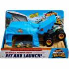 Pista de masini by Mattel Monster Truck Pit and Launch Shark Wreak cu