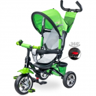 Tricicleta cu maner si scaun reversibil Toyz TIMMY Green Verde