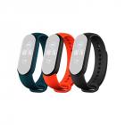 Set 3 curele pentru Bratara fitness Xiaomi Mi Band 5 Teal Portocaliu s