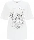 T Shirt With Skull Sketchbook Print 651917 QZACN