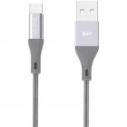 Cablu de date MicroUSB USB Boost Link LK30AB Nylon 1m Grey