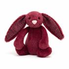 Jucarie de plus Bashful Sparkly Cassis Bunny 18cm