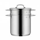 Oala inox WMF Mini pentru fiert paste 3 litri 18 cm inductie capac