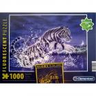 Puzzle Clementoni Fosforescent Glows in the Dark Tigrul alb Puterea vi
