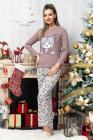 Pijama trendy din bumbac cu imprimeu pisicute lila
