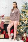 Pijama trendy din bumbac bicolora Sleepy Bear