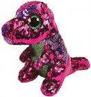 Plus TYStompy DinozaurPaiete roz verde24 cm