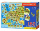 Puzzle educativHarta Europei180pcs