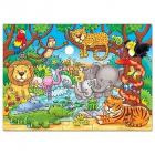 Puzzle cu activitati Cine este in jungla Orchard Toys