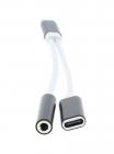 Adaptor USB C tata jack 3 5mm mama si USB C mama 13cm Well