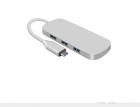 Adaptor USB C la 3x USB3 0 si cititor de card