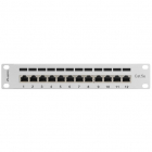 Patch Panel 10 inch 12 porturi Grey