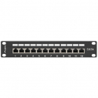 Patch Panel 10 inch 12 porturi Black