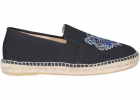 Tiger Embroidered Espadrilles In Black 5ES188F7099