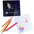 Set de desen cu piese magnetice Astronaut