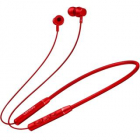Casti Wireless QE03 Neckband Noise Reduction Microfon Rosu