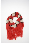 Striped and Fringed K PIX Scarf