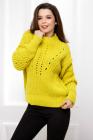 Pulover Adriana galben din tricot