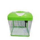 Acvariu verde din sticla Hopar 23x17x25 5 cm