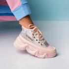 Sneakersi Piele Ecologica Roz Kalli X1680
