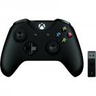 Gamepad Xbox One Wireless Controller Black Wireless Adapter v2 Negru