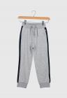 Pantaloni sport cu garnituri laterale contrastante Mesebo Gri melange