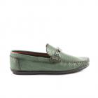 Pantofi barbati Benvenuti verzi din piele cu aspect croco print 1379bp