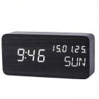 Ceas digital KH 0149 W de birou Afisaj LED Aenzor sunet Functie alarma