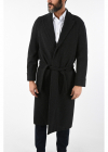 cashmere and virgin wool single breasted trench