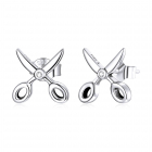 Cercei din argint Cute Scissors