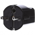 Stecker 16A Black