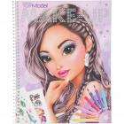 Carte de colorat Create Your Make Up Top Model Depesche PT10728 Initia