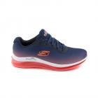 Pantofi sport femei Skechers bleumarin cu roz in dregradee 1961DPS1490