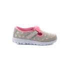 Pantofi tip balerin copii Skechers gri cu roz 1961CNP81162GR