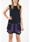 MM1 Cut Out Mini Tunic Dress with Front Pocket