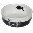 Castron ceramic pentru pisici Nobby Cat Face 250ml