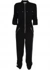 Multi Pocket Jumpsuit In Black MF0804Y6BZ BLACK