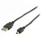 Cablu USB2 0 USB A Tata Mini USB 4P Tata 1 8M WELL