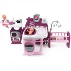 Centru de ingrijire pentru papusi Smoby Baby Nurse Doll s Play Center