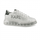 Pantofi sport femei Karl Lagerfeld argintii din piele 2059dp62623ag