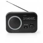 Radio FM AM Nedis 1 8W gri negru