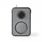 Radio FM Nedis 1 8W maner de transport gri negru