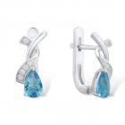 Cercei albastri AG925 Ilene