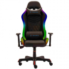 Scaun gaming Rainbow Negru iluminare RGB