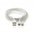 Cablu de alimentare si sincronizare 2 in 1 Micro USB si USB tip C 1m N